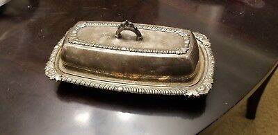 Vintage Pilgrim Silverplate Butter Dish Post #73