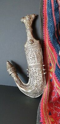 Old Yemeni Jambiya Khanjar Dagger with Ornate Handle & Sheath  …beautiful...