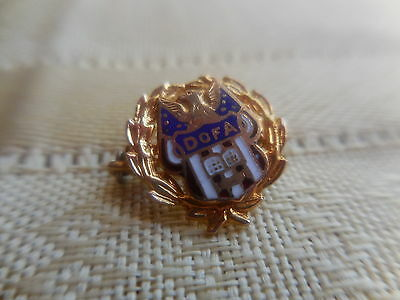 Old brass pin-for: DOFA Daughter of America