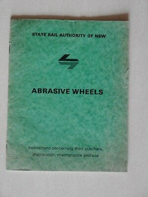 State Rail NSW Abrasive Wheels