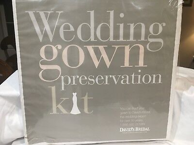 New With Tags Davids Bridal Wedding Gown Preservation Kit