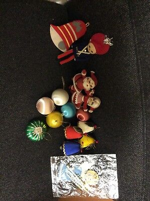 vintage  Rare 1960/70's christmas Assorted decorations