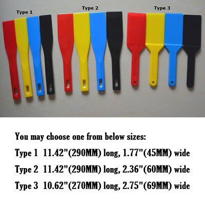 4 sets of Ink Spatulas Screen Printing Plastic Knife Blade Ink Apply Shovel Tool