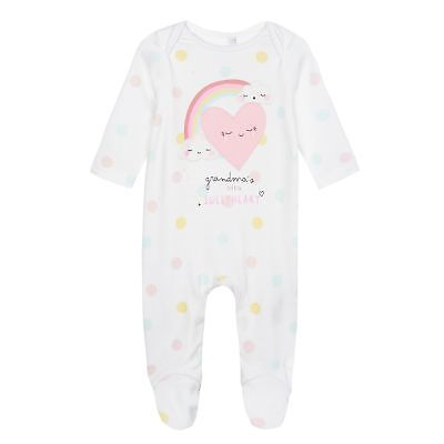 c9a971d5454 BLUEZOO KIDS BABY Girls' Pink 'My First Eid' Long Sleeve Sleepsuit ...