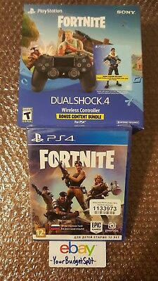 Fortnite Ps4 Hard Copy Ussr + Ps4 Controller Royale Bomber Skin/500 Vbucks Combo