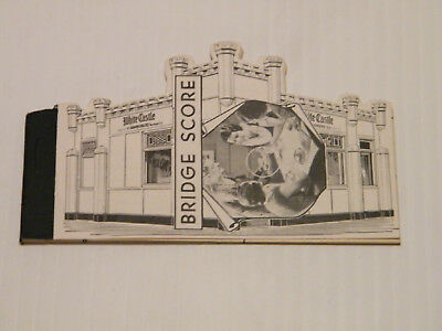 "VINTAGE ""WHITE CASTLE"" Bridge Score Book"