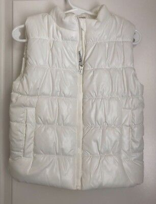 Carters Toddler/Little Girls White Puff Vest Size 3T