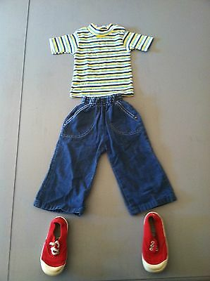 Vintage 70s Childrens Child Kids Boys Girls Infant Toddler Outfit 12 months