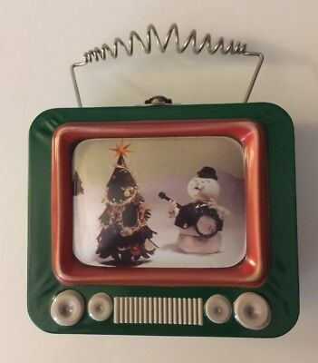 Rudolph & Island of Misfit Toys Tin Metal LunchBox~TV Shaped with Antenna Handle