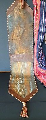 Old Snake Skin Leather Table Center Piece …beautiful display item