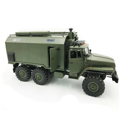 1:16 6WD Military Green Truck Off-road Climbing Assembly KIT Ural RC Car Toy New