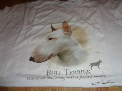 Bull Terrier T Shirt White Colored X Large Size 100% Cotton
