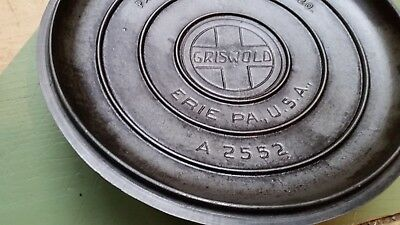 Griswold No. 9  Cast iron Tite-Top Baster Dutch Oven Lid Only A 2552