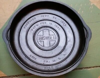 Griswold No. 8  Cast iron  Self Basting Skillet Dutch Oven Lid Only 1048 A