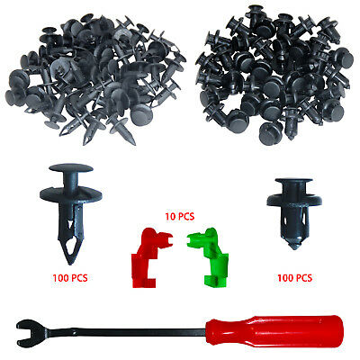 Auto Clips Fasteners Rivet Kits Universal Bumper Clips 200 Pcs For Ford GM
