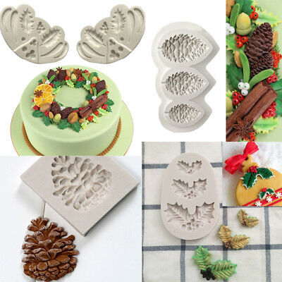 XMAS Pine Cone Silicone Fondant Cake Decorating Mold Chocolate Sugarcraft Mould