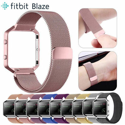 Replacement Stainless Steel Loop Strap Wrist Band Frame for Fitbit Blaze Watch