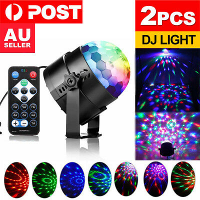2Pcs Disco Party DJ LED RGB Stage Effect Light Lamp Laser Crystal Magic Ball Hot
