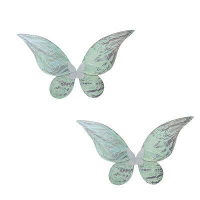 2pcs Shiny Changing Butterfly Angel Fairy Wing Adult Party Fancy Dress