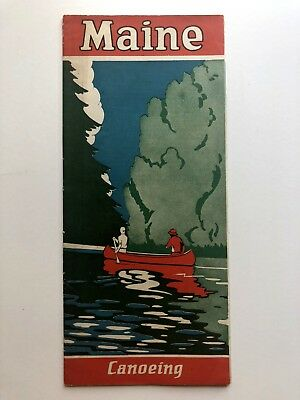 1929 Maine Camping and Canoeing Travel Brochure
