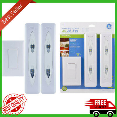 Wireless Remote Control Led Light Bars Battery Operated Lighting Switch 2 Pack