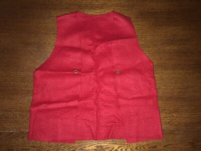 Vintage Boy Scouts of America BSA Red Felt Patch Vest