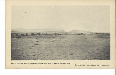 Postcard Rppc L A Huffman Photo No. 9 Site Of The Second Camp Near Mcrea Ranch