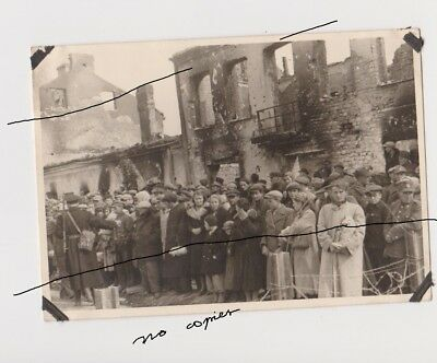 Old Poland Photo Original WWII Warsaw Hostages are waiting for their fate Wojna