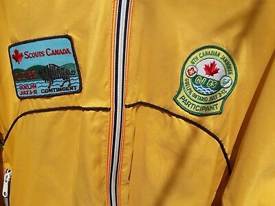 Last Chance >> Cj-85 [1985 Canadian Jamboree] Yellow Mb Contingent Youth Jacket