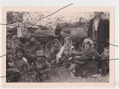 "Holocaust. Old Photo original of WWII Russian Gypsy ""Ruska Roma"" Кочевые Цыгане."
