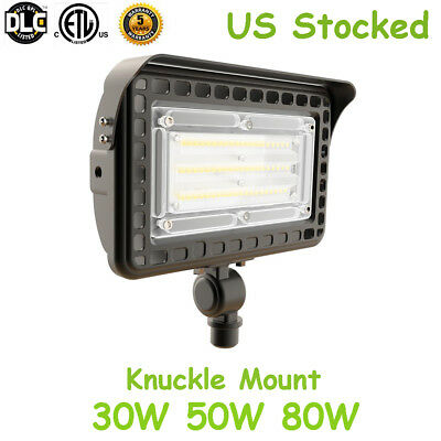 30W 50W 80W LED Outdoor Flood Light- Knuckle Mount / Trunnion Security Light