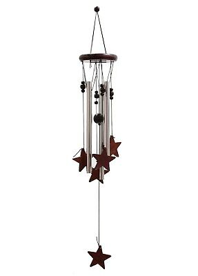 Hanging Wooden Wind Chime Outdoor Garden Star Chimes Windchime Stars Home Decor