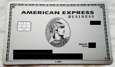 Metal Credit Card AMEX Centurion PLATINUM BUSINESS card