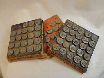 Vintage Lot of 40's ACRO Hold-Tite Numbering Tack Window Markers