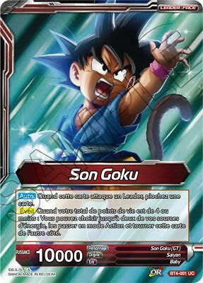 Décharge d/'Energie BT4-001 VF//UC FOIL Dragon Ball Super Card Game Son Goku