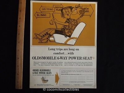 1966 Advertising Sheet for 1966 Oldsmobile 6 Way Power Seat Code A42 Long Trips
