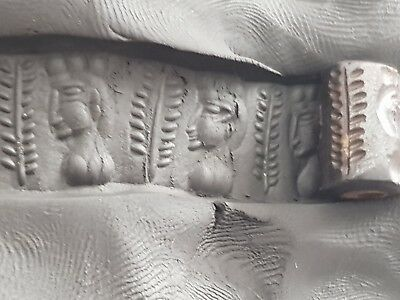 Extremly Rare Medieval Cylinder Seal Uncertain King.very Interest.3,4 Gr.14 Mm