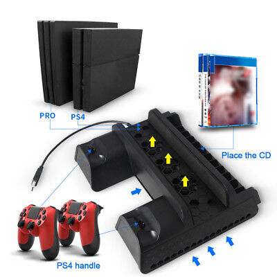 For Ps4 Slim Pro Multifunctional All In One Vertical Cooling