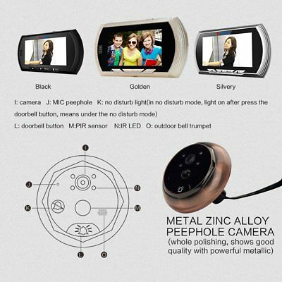 Danmini YB-43AHD-M 4.3 Inch Night Vision Motion Detection Camera Doorbell CY