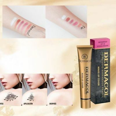 30g Magical Freckle Removing Concealer Dermacol Makeup Cover Concealer Gold Tube