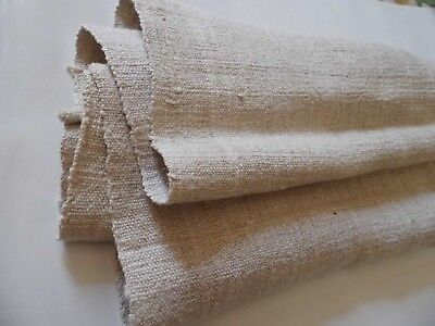 Old coarse homespun linen fabric towel 1,27 х 0,37 m