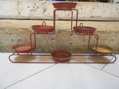 VINTAGE French Planter Pot HOLDER HANGER for 6 petits planters