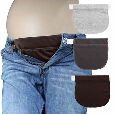 Pregnant Maternity Pants Belt Elastic Waist Extending Button Comfortable Clothes