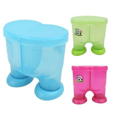Cute Baby Formula Milk Powder Dispenser Storage Candy Container 2 Compartment