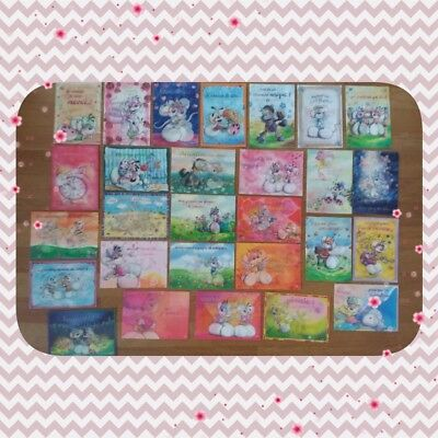 Diddl Diddlina... Lot de 28 cartes postale de collection images en relief TBE