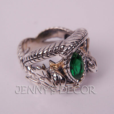Lord of The Rings Jewelry Aragorn's Ring of Barahir 925 Sterling Silver Mens