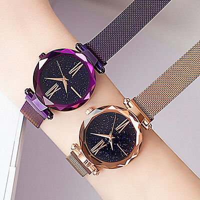 Casual Starry Sky Belt Watch Magnet Strap Buckle Stainless Luxury Wrist Watch ka
