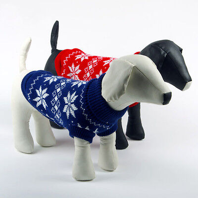 Pet Puppy Warm Jumper Sweater Xmas Knitted Costume Small Dog Coat Christmas Gift