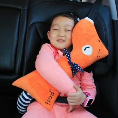 US Kids Safety Car Seatbelt Pillow Car Seat Belt Cover Strap Adjustable Cushion