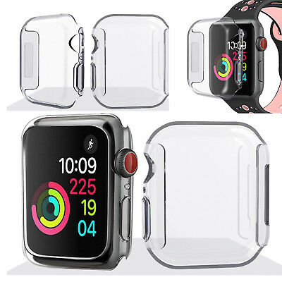 Clear Silicone Watch Case Cover Shell Protector For iWatch Apple Watch Series 4